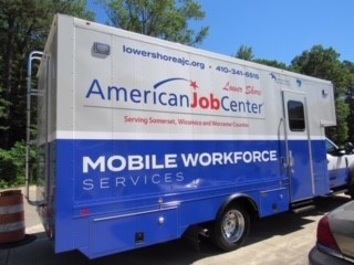 The outside of the American Job Center Mobile Unit