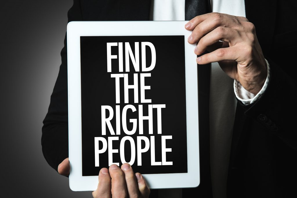 Find the Right People sign